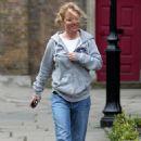 Geri Halliwell Leaving St. John Church In Hampstead, April 19 2010