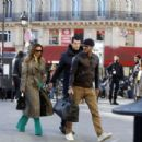 Victoria and David Beckham at Gare du Nord station in Paris