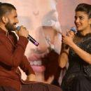 Ranveer Singh and Priyanka Chopra promoting her upcoming movie Bajirao Mastani in Mumbai - 454 x 317