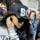 Rihanna leaving her hotel on her way to Wireless Festival in London, England (July 8) - 454 x 686