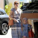 'Big Eyes' actress Amy Adams goes shopping at a lumber yard with her daughter Aviana on October 5, 2014 in West Hollywood, California
