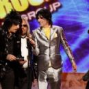 Nikki Sixx, Vince Neil, Tommy Lee and Mick Mars of Motley Crue present during the 2008 American Music Awards held at Nokia Theatre L.A. LIVE on November 23, 2008 in Los Angeles, California.