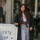 Gina Rodriguez On The Set Of 'Someone Great'