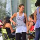 Jessica Alba In Spandex Out In West Hollywood