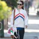 Jordana Brewster walking back to her car in LA - 454 x 681