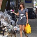 Helena Christensen – With Her Dog out in New York - 454 x 519