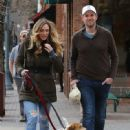 Eric Trump and his pregnant wife Lara Trump were spotted taking their dogs for a walk in Aspen, Colorado on March 23, 2017