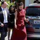 Selena Gomez at David Henrie and Maria Cahill's Wedding in Los Angeles - 454 x 605