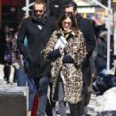 Alexa Chung & Alexander Skarsgard Out And About In NYC ( March 23, 2017) - 454 x 597