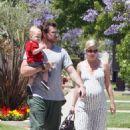 Tori Spelling & Dean McDermott Take Their Son Liam To Music Class In L.A. 2008-06-06