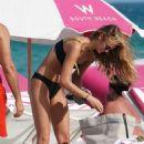 Kate Bock in Black Bikini at the beach in Miami Beach - 454 x 681