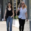 Lily Collins and her mother Jill Tavelman out in West Hollywood
