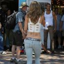 "AnnaLynne McCord shooting scenes for her hit show ""90210"" in Long Beach, CA (August 7)"