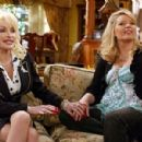 Dolly Parton & Melissa Peterman On The Set Of Reba