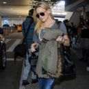 Kate Hudson and her mom Goldie Hawn arriving on a flight at LAX airport in Los Angeles, California on January 27, 2015