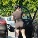 Rumer Willis – In a black skin-tight outfit and white boots out in Los Angeles - 454 x 681