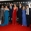 Deborah Snyder, Zack Snyder, Amy Adams, Ben Affleck, Gal Gadot, Henry Cavill, Holly Hunter, Jesse Eisenberg and the producer Charles Roven - March 22, 2016-'Batman V Superman: Dawn of Justice' European Premiere - 400 x 265