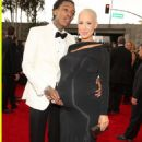 Amber Rose and Wiz Khalifa arrive at the 55th Annual GRAMMY Awards at the Staples Center in Los Angeles, California - February 10, 2013 - 454 x 679