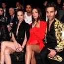 Emily Ratajkowski – In red at Versace Fashion Show in Milan February