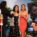 Vanessa Hudgens and Jennifer Lopez – On Despierta America in Miami