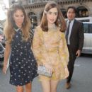 Lily Collins – Arriving at Miu Miu Croisiere SS 2019 Show in Paris