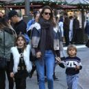 Alessandra Ambrosio Takes Her Kids to the Santa House at The Grove - 454 x 582