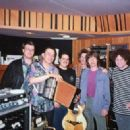 "David Gaar, Flaco Jimenez, Max Baca, Keith Richards, Mick Jagger & Don Was in 1993 at A&M Studios in LA. Flaco Jimenez was asked to record with The Stones for the track ""Sweethearts Together"" for the Voodoo Lounge sessions"