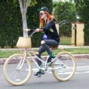 Bella Thorne – Bike Riding in Los Angeles 11/27/ 2016 - 454 x 303