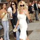 Pamela Anderson Arrives At The Late Show With David Letterman At The Ed Sullivan Theater, New York City, 2008-07-30