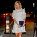 Ashley Tisdale in White Dress – Out in Los Angeles - 454 x 681