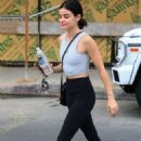 Lucy Hale – Heads to the gym in Los Angeles