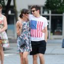 Keira Knightley cozies up to her fiance James Righton as they take a stroll in New York, New York on July 1st, 2012