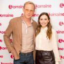 Paul Bettany and Elizabeth Olsen on 'Lorraine' TV show in London - 454 x 659
