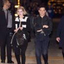Rami Malek and Lucy Boynton are seen at 'Jimmy Kimmel Live' in Los Angeles, California - 454 x 570