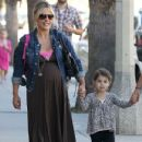 Sarah Michelle Gellar: dropping her daughter Charlotte off at school in Beverly Hills