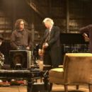 Left to Right: Jack White, Davis Guggenheim, Jimmy Page, and The Edge. Photo taken by Alba Tull, Courtesy of Sony Pictures Classics