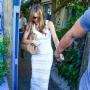 Sofia Vergara and her hunky new boyfriend Joe Manganiello enjoy lunch together at Mandolin Aegean Bistro in Miami, Florida on July 25, 2014