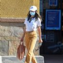 Jamie Chung – Wearing colored jeans as she runs errands in Los Angeles - 454 x 564