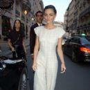 Phoebe Tonkin – Leaving the Bristol Hotel in Paris - 454 x 692