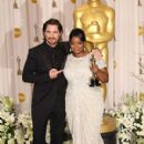 Christian Bale and Octavia Spencer At The 84th Annual Academy Awards - Press Room (2012)