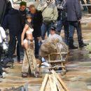 Lais Ribeiro Shooting a commercial for Victoria Secret's upcoming holiday catalog in Aspen - 454 x 444
