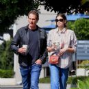 Kaia Gerber and father Rande at Blue Bottle Coffee in West Hollywood
