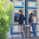 Cara Delevingne – Makes a trip to her local Chase atm in Los Angeles - 454 x 303