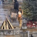 Lais Ribeiro Shooting a commercial for Victoria Secret's upcoming holiday catalog in Aspen - 454 x 400