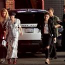 Emma Roberts with Couple Kristen Stewart and Stella Maxwell out in Hollywood