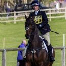 Zara Phillips riding CG Master Lux in the show jumping at the Hambledon Horse Trials, Oxfordshire - 359 x 594