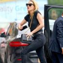 Amber Heard in Black Jeans with Vito Schnabel out in NYC