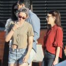 Kristen Stewart and Emma Roberts – spotted exiting Nobu together in Malibu