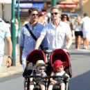 Neil Patrick Harris and David Burka taking the twins for a stroll in St. Tropez (August 2) - 454 x 616