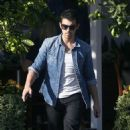 Joe Jonas leaving the Fred Segal Cafe in West Hollywood (October 14)